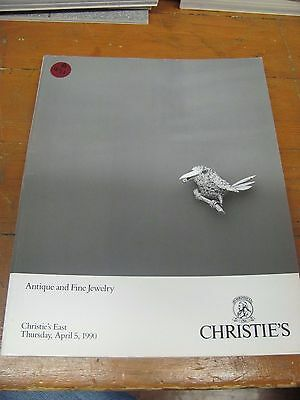 A971 Old Pawn Christie's Antique And Fine Jewelry April 5, 1990 Magazine