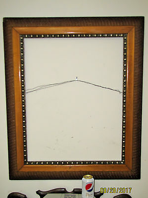 "LARGE ORNATE ANTIQUE VICTORIAN OAK PICTURE FRAME, 30"" x 36"""