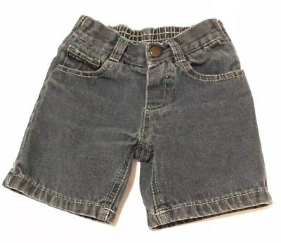 US POLO ASSN Baby Denim Jeans Sz 12M Green Stitching Accent Bottoms Pants