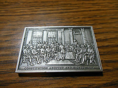 1976 American Revolution Bicentennial Constitution Signed Issue # 7 Fine Pewter