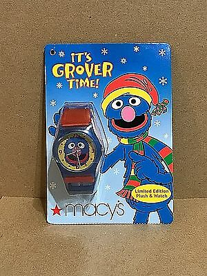 Limited Edition - It's Grover Time - Grover Watch - Macy's - 2004 - NO PLUSH