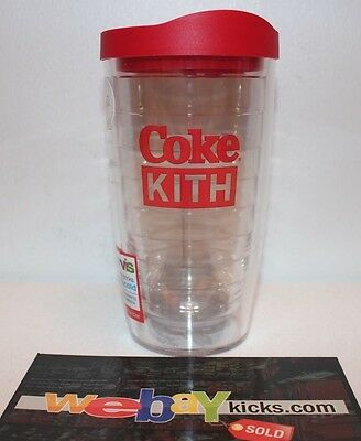 Kith NYC Coca Cola Coke Cup Clear Red White Box Logo Brand New