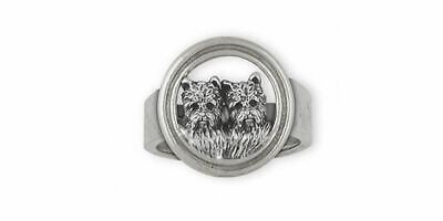 Westie Ring Jewelry Sterling Silver Handmade West Highland White Terrier Ring WN