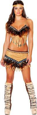 Sultry Indian Hottie Native American Babe Halloween Costume Outfit Adult Women