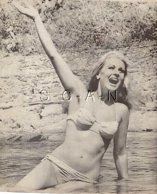 Original Vintage 1967 Semi Nude Pinup Press Photo- Bikini- Actress- Liana Orfel