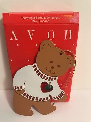 Avon May Teddy Bear Birthday Ornament - NIB
