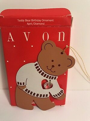 Avon April Teddy Bear Birthday Ornament - New