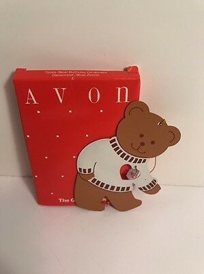 Avon December Teddy Bear Birthday Ornament - New
