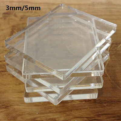 6 Packs Clear Acrylic Blocks Stamping Rubber Plexiglass 3/5mm Pads Card Craft