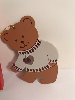 Avon February Teddy Bear Birthstone Ornament - New
