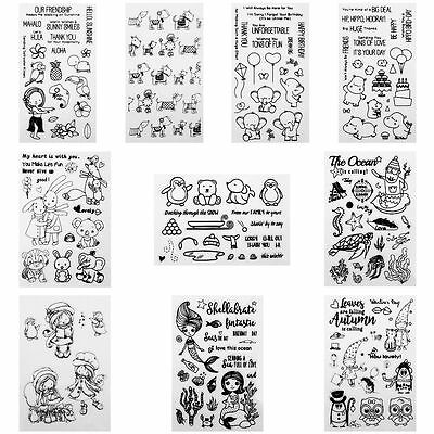 Transparent Clear Stamps for DIY Scrapbooking Decor Card Making Supplies Crafts