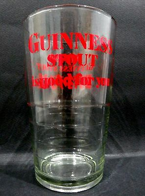 """Guinness Stout Beer Glass (red logo) vgc (4 7/8"""" x 3"""") - 5 glasses available"""