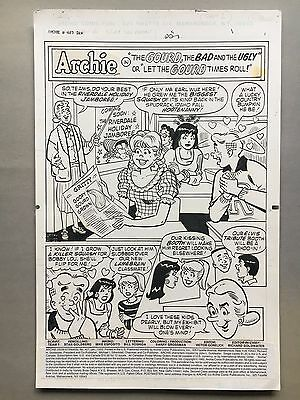 Archie Comics #407 pg 1-5, Jan '93, 5 page story, original art by Stan Goldberg