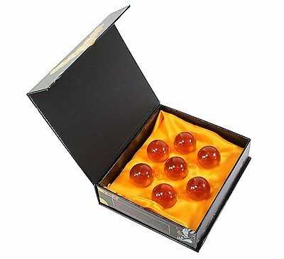 Brand New Dragon Ball Z Stars Crystal Glass Ball 7pcs with Gift Box LARGE 76MM