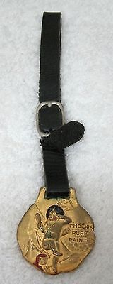 OLD Phoenix Pure Paint Watch Fob Leather Strap Indian Boy WP Fuller Portland Or