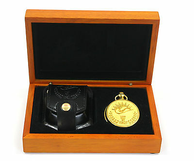"""Bradford Exchange """"Lest We Forget"""" Remembrance Pocket Watch with Authenticity"""
