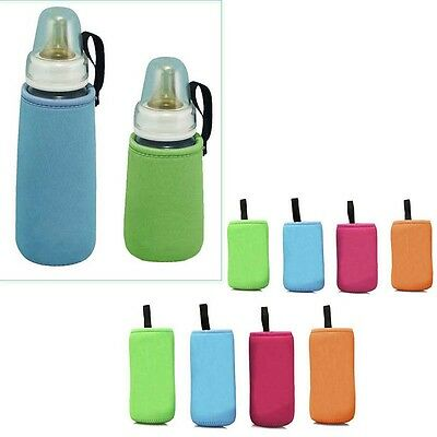 Toddlers Baby Soft Feeding Water Bottle Plush Pouch Cover Keep Warm Holders Case