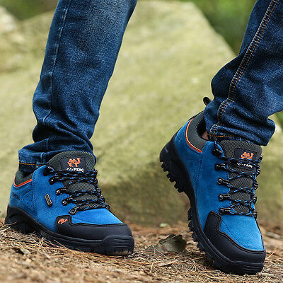 3C Camel Men's backpacking Hiking Trail  Athletic Blue Lightweight casual Shoes