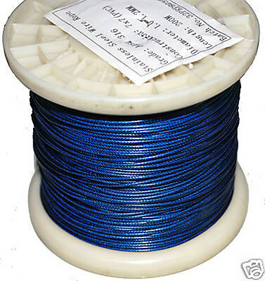 1.0mm Nylon Coated 316SS Shark Trace. 10m Coil. 98kg. Fishing Wire