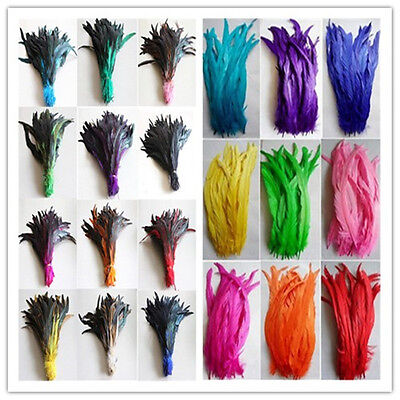 10-2000 Pcs Beautiful Rooster Tail Feathers 12-14 Inches//30-35cm Wholesale