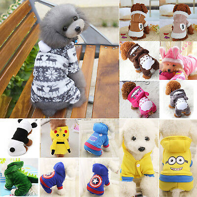 Pet Dog Cat Puppy Sweater Hoodie Cute Winter Warm Jacket Clothes Costume Apparel
