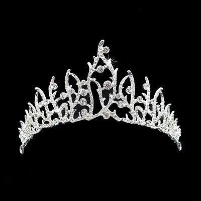 BL_ Rhinestone Princess Tiara Crown Bridal Wedding Dress Headwear Accessory Delu
