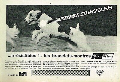 I- Publicité Advertising 1966 Les Bracelets montre Fixo-Flex