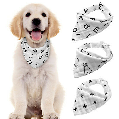 3pcs/pack Soft Cotton Bandana-Style Pet Puppy Dog Collars Neck Scarf Neckerchief