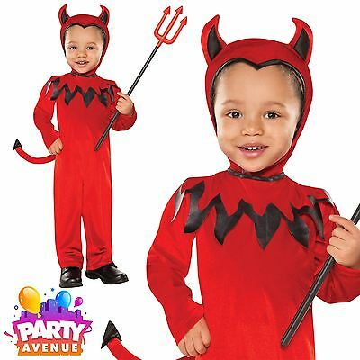 Childrens Toddlers Devil Halloween Costume Fancy Dress Outfit