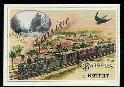 NEERPELT -  ....  TRAIN  ...  souvenir creation moderne serie numerotee