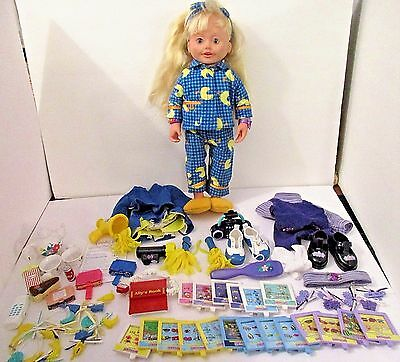 Amazing Ally vintage doll with extras slumber tea party cheerleader, books WORKS