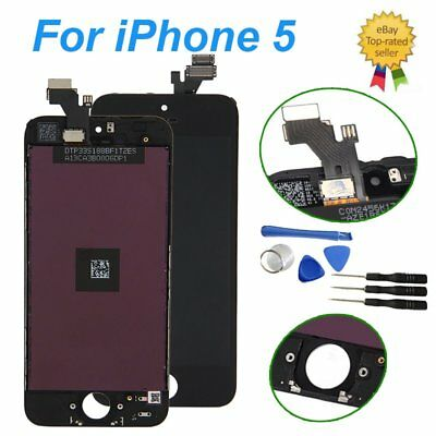 For iPhone 5 LCD Touch Screen Glass Lens Digitizer Assembly Replacement- Black