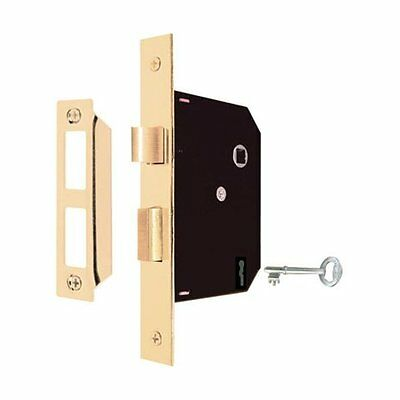 Prime Line E2294 Mortise Lock Assembly Keyed, Brass