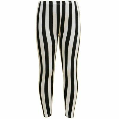 Kids Girls Striped Full Length Stretchable Legging Great Fit 7 - 13 Years