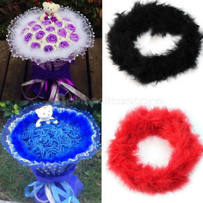 Hot Sale 2M Long Fluffy Feather Boa Strip Fancy Costume Party Wedding Decoration