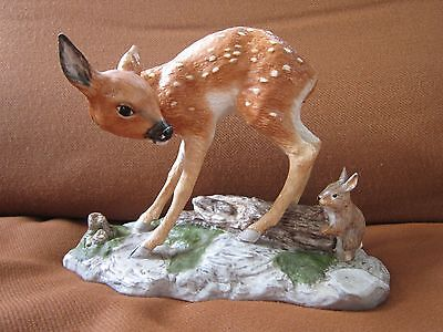"""Franklin Mint Porcelain - """"Baby Animal Sculpture Collection""""  FAWN"""