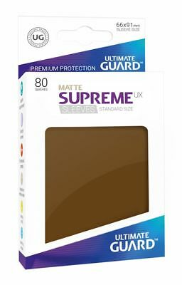 Ultimate Guard - Supreme UX Sleeves Standard Matte Brown 80 Kartenhüllen Hüllen