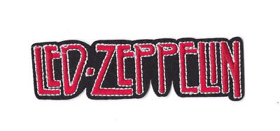 LED ZEPPELIN RED BLACK LOGO IRON ON / SEW ON PATCH Embroidered Badge PT129 MUSIC