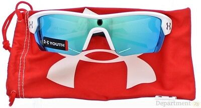 Under Armour Menace - Satin White Blue Multi Youth Sunglasses