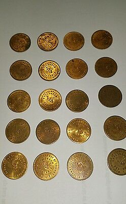 Effingham Illinois 1/4c Sales Tax Tokens - 20 total.
