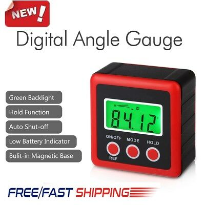 Portable LCD Digital Bevel Box Gauge Angle Finder Level Protractor Waterproof