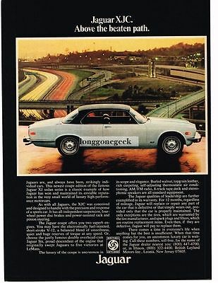 1976 Jaguar XJC White 2-door Coupe Vtg Print Ad