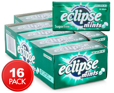 16 x Eclipse Sugarfree Mints Spearmint 34g
