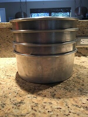 """Pre-owned 10"""" Aluminum Commercial Angel Food Cake Pans -  3 pans available"""