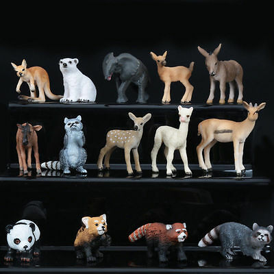 14 Type Realistic Animal Model Room Ornament Collect Education Toy Gift US