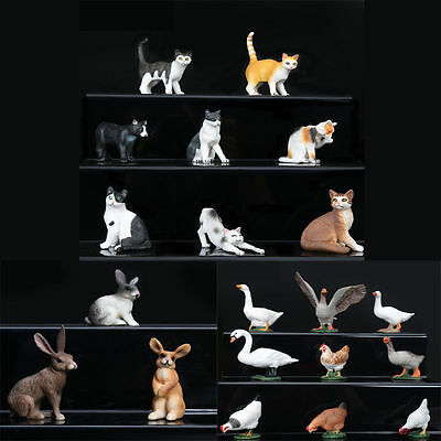 20 Type Realistic Domestic Animal Model Home Ornament Collect Education Toy Gift