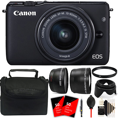 Canon EOS M10 Mirrorless Digital Camera + EF-M 15-45mm Lens + Top Accessory Kit