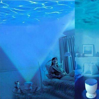 Night Light Projector Led Ocean Sea Wave Speakers Baby Plush Toys Constellations