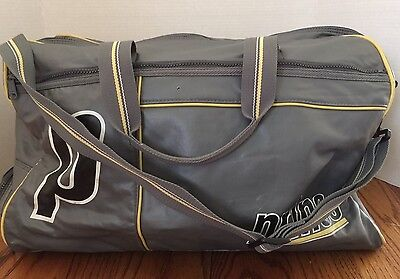 Vintage Prince Duffle Bag W Tennis Racket Holder Grey Faux Leather