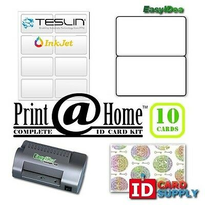 Complete Print @ Home Kit | Makes 10 PVC Like ID Cards | for InkJet Printers